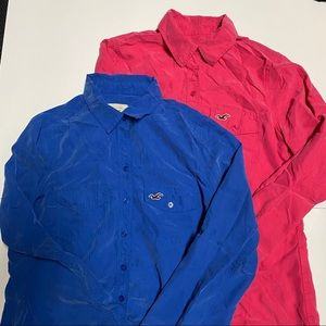 Small Hollister Long Sleeves Buttoned Top - Bundle